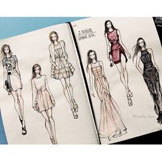Fab sketches of J. Mendel SS14 by Carla Han on fashionary  http://instagram.com/p/eYpCsaNUlQ/