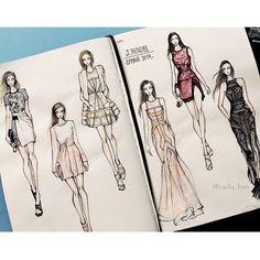 Fab sketches of J. Mendel SS14 by Carla Han on fashionary  http://instagram.com/p/eYpCsaNUlQ/