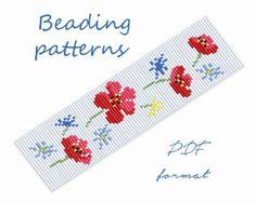 Cette fleur de tissage, ce tutoriel-Flower Stitch Pattern-Bead.  Vous pouvez utiliser ce modèle de métier à tisser pour faire un collier ou un bracelet manchette.  C'est un appareil photo numérique de ce modèle que vous pouvez télécharger instantanément de Etsy après l'achat. Modèles comprennent un nuancier complet avec nom de symboles, une légende de la perle, de couleur, un chiffre bien que la quantité de perles par couleur.  Numérique format JPG et PDF, pas un produit fini.  Veuillez…