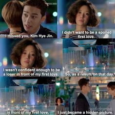 when I saw this part I was so happy, then he just went by. it made me teary eyed T~T She Was Pretty Flower Boys, Boys Over Flowers, Love At First Sight, First Love, Live Action, She Was Pretty Kdrama, Sung Joon, Hwang Jung Eum, Asian Fever