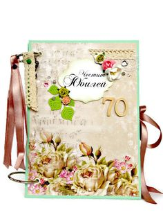 This beautiful Anniversary Scrapbook Album makes a really great gift for Valentine`s Day. It comes in size A5 - 5.8 x 8.3 inches, with 20 beautifully decorated inner pages and it can hold at least 50 of your favorite photo prints. The Anniversary Scrapbook Album has 2 hard cardboard covers with pockets or envelopes on the inside. Interactive elements - numerous pockets, flaps and individual segments. Photo tags and memory tags. And it is embellished with flowers, pearls, die cuts, paper ...