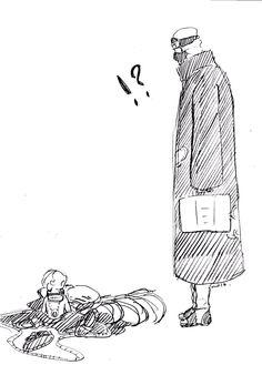 Hidan turned into a baby! I wonder what Kakuzu is going to do. Naruto Kakashi, Naruto Akatsuki Funny, Mitsuki Naruto, Hidan And Kakuzu, Madara And Hashirama, Naruto Anime, Naruto Comic, Naruto Cute, Otaku Anime