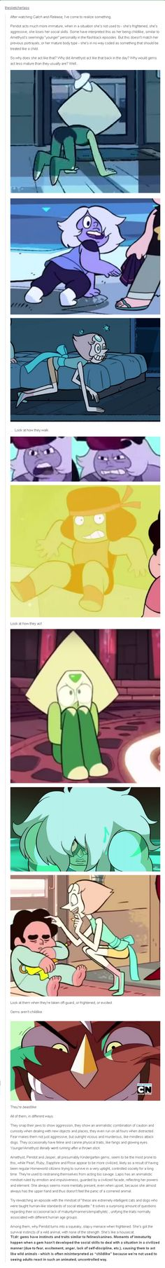 I think that peridot is a lot longer than amethyst. I also don't think she's a kindergarten gem. I don't have anything on jasper except that  I think she's a fusion.