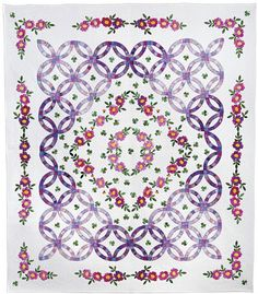 'Fragrance of Purple' by Miwako Mizutani. Award Winner, Large Wall Quilts Hand Quilted, 2011 AQS Quilt Show & Contest