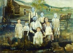 "Most stories about the blue people of Kentucky include an eerie, compelling drawing of a family, with the stark faces of 5 of the 9 members a striking bluish-gray, due to an inherited disease. Most stories also borrow heavily from a terrific article by Cathy Frost from Science 82, a long-gone magazine that I quite liked. Frost's piece, ""The Blue People of Troublesome Creek,"" is usually credited, but the painting not, or misattributed to ABC News, various newspapers, or simply deemed…"