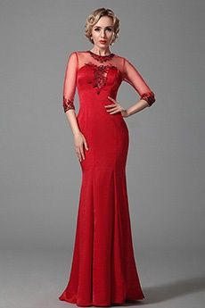 Trumpet/Mermaid Jewel Floor-length Taffeta Evening Dress
