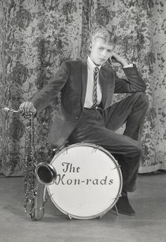 David Bowie in a promotional shoot for The Kon-rads, 1963  RIP Bowie