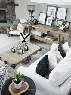 Rustic Modern Living Room… Rustic Modern Living Room http://www.wersdecor.website/2017/05/07/rustic-modern-living-room/