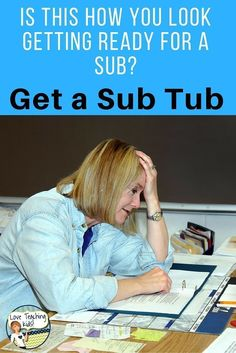 Sub Plans for when there is an emergency and you don't have time to go to school to get them ready. You need a sub tub for your elementary classroom that will keep your students busy all day. Attached is a free template and activity to get you started making your own.