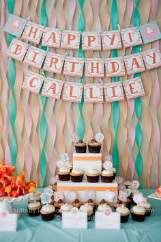 Crepe Paper Backdrop to this Sweets Table #partydecor