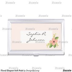 Find great Modern accessories from Zazzle. From jewelry to sunglasses to luggage tags, find the best accoutrements for any occasion. Business Card Case, Office Essentials, Elegant, Frame, Floral, Modern, Pink, Accessories, Design
