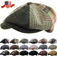 d618a5e4 Golf Visors and Hats 158937: Men S Cabbie Newsboy And Ascot Plaid Ivy  Button Hat