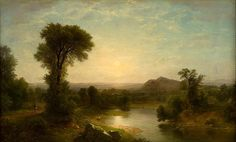 The Catskill Valley  Asher Brown Durand