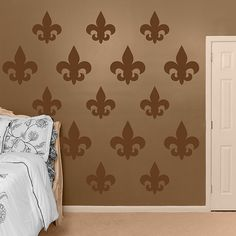 Brown Fleur de Lis - Fleur de Lis - Home Decor Graphics