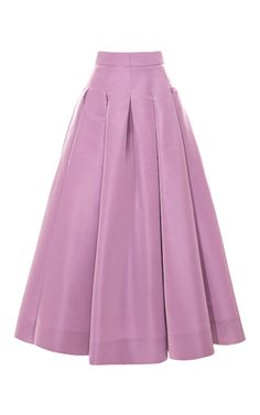 Box Pleat Swing Skirt by Katie Ermilio for Preorder on Moda Operandi