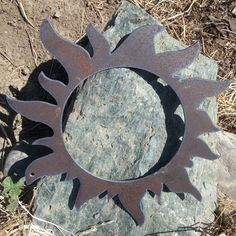 Halo Sun Wall Decor recycled steel Rustic Sun Custom open sun 18 in Custom Metal, Custom Wall, Sun Wall Decor, Hanging Art, Rustic Charm, Metal Art, Halo, Recycling, Steel