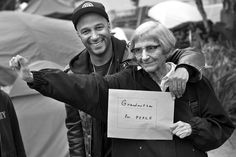 Photos: Tom Morello Rallies for Occupy LA Pictures - 'Grandmother for Peace' Say Hello To Heaven, Tom Morello, I Salute You, E Street Band, It Takes Two, World View, Second Baby, Bruce Springsteen, Your Music
