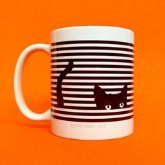 Cat Stripes Mug by Seltzer Goods