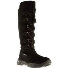 Madeleine Boots: Tall, toasty boots that are insulated and waterproof for warm toes this winter. The lace-up closure lets you fine-tune the fit – cinch them up tight on snow days, or loos Baffin Boots, Stylish Boots, New Wardrobe, Capsule Wardrobe, All About Fashion, Winter Boots, Black Boots, Fashion Accessories, Lace Up