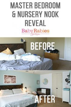 Master Bedroom Nook how to create a tiny nursery in a master bedroom | master bedroom