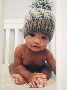 LarJ Crochets!: Modified Pattern: Stepping Texture Hat for Babies!