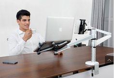 2 in 1 360º rotating height adjustable laptop/ipad/tablet desk/bed holder/mount
