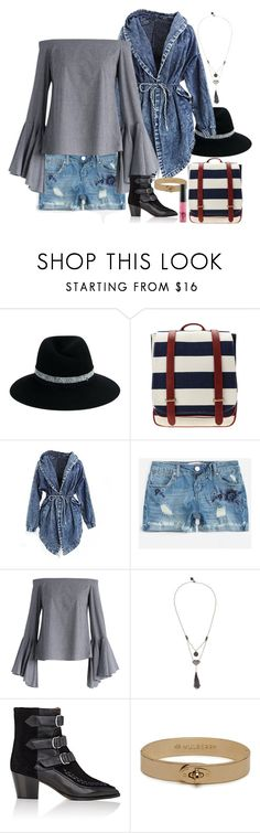 """Untitled #6971"" by ashley-r0se-xo ❤ liked on Polyvore featuring Maison Michel, Retrò, Almost Famous, Chicwish, Love Heals, Isabel Marant, Mulberry and MAC Cosmetics"