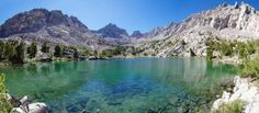 Picture of Panorama of unnamed Sierra Nevada mountain lake and Dragon Peak stock photo, images and stock photography. Sierra Nevada, Oh The Places You'll Go, Places To Visit, John Muir Trail, The Mountains Are Calling, Dream Vacations, The Great Outdoors, Scenery, Adventure