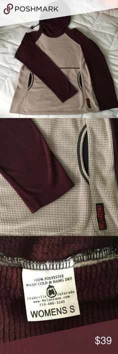 Melanzana Fleece Hoody Cinchable Hood, kangaroo pocket, EUC. One of the originals! Melanzana Tops Sweatshirts & Hoodies
