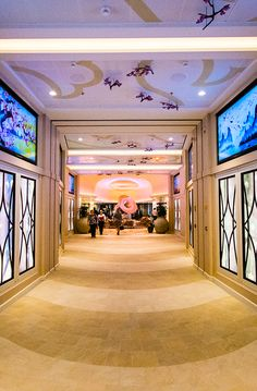 The Via. This is your gateway to Anthem of the Seas high-end shops, restaurants and bars.