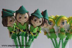 www.unpocodetodo.org - Fofulápices de Campanilla y Peter Pan - Fofulápices - Goma eva - birthday - crafts - cumpleaños - disney - fiesta - foami - foamy - fofuchas - manualidades - party - princesas - princess - 6