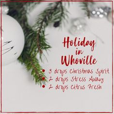 Christmas essential oil diffuser blends, essential oils for the holidays, Whoville smells, Christmas scents, Young Essential Oils, Essential Oils Room Spray, Essential Oils Guide, Essential Oil Diffuser Blends, Essential Oil Uses, Christmas Scents, Christmas Trees, Christmas Room, Christmas Ornaments