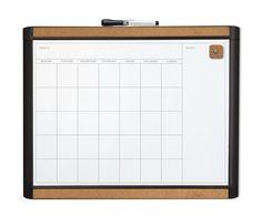 "Pin-it Magnetic Calendar Bulletin Board, 1'4"" x 1'8"""