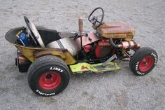 Gokart Plans 554013191661153574 - The Diesel Weasel Mow-Cart is Home-Built Rat Rod Mayhem – Hot Rod Network Source by tournevis Rat Rod Pickup, Pickup Trucks, Chevy Trucks, Dually Trucks, Truck Drivers, Semi Trucks, Chevy Pickups, Rat Rod Cars, Pedal Cars