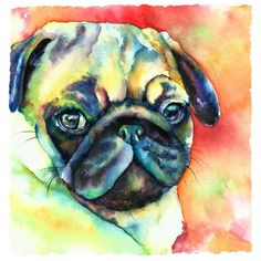 Glamour Pug Painting by Christy Freeman - Glamour Pug Fine Art Prints and Posters for Sale