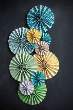 How To: DIY Paper Fans | www.evermine.com