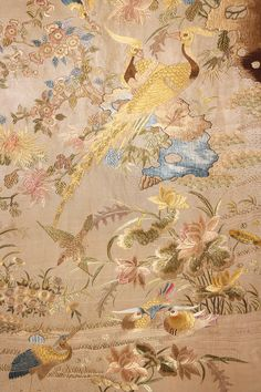 LOT 108 FOUR CHINESE SILK EMBROIDERED PANELS. 19th C. - whitakerauction