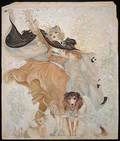 Golden Eyes,Uncle Sam,Dog,1918,Nell Brinkley,World War,WWI,Beautiful,Beauty