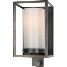 Chart House from Visual Comfort designed by Sandy Chapman Easterly Sconce in Bronze with White Glass CHD2055BZ-WG