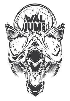 Valium Clothing // Graphic vector   -wolf #Valium_one #Graphic #Graphic_vector #Street_wear