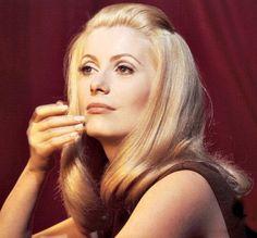 Catherine Deneuve during the filming of Belle de Jour, 1966.