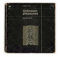 Unknown Pleasures - Joy Division, as redesigned by Huw Gwilliam. Classic Records as Penguin Books! Joy Division, Lps, Vinyl Cover, Cd Cover, Cover Art, Music Film, Music Albums, Music Books, Music Music