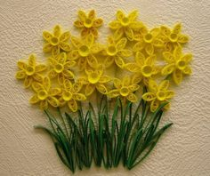 Yellow Daffodil - Quilled Creations Quilling Gallery