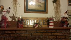 Christmas stuff i got done(Jared made the sign)