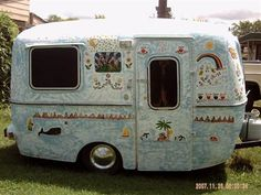Readers and their beloved RVs... Ours, as painted and posted by the previous owners!