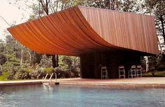 by Norman Jaffe // Turetsky House Pool House, Old Westbury // 1977