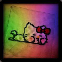 [拼豆] 脫力系Hello Kitty - 多趣味人間涼子的世界 - 樂多日誌(行動版)