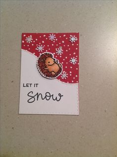 Lawn Fawn Jump for Joy and Snow cool ATC card