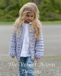 Listing for CROCHET PATTERN ONLY of The Dusklyn Sweater.  This sweater is handcrafted and designed with comfort and warmth in mind…Perfect accessory for all seasons.  All patterns are american english written instructions in standard US standard terms.  **Sizes included 2, 3/4, 5/7, 8/10, 11/13, 14/16, S/M, L/XL sizes. **Any super bulky weight yarn can be used.  Finished approx. measurements with sweater folded closed: 2 (sweater 27.25 inch chest circumference) 3/4 (sweater 28.5 inch chest…