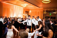 Elegant Atlanta Hotel Modern Jewish Wedding//hora